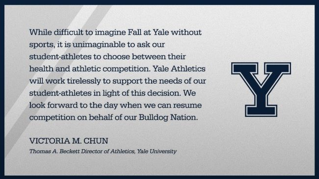 Vicky Chun Statement on Ivy Fall Semester Competition Cancellation